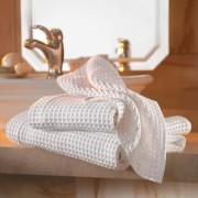 Busatti Wafelpiqué-handdoeken, set à 2 stuks, badhanddoeken, 80 x 150 cm