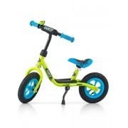 """Gyermek lábbal hajtós bicikli Milly Mally Dusty zöld 12"""""""