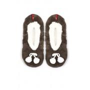 Baletki pompon 5691832 (brązowo-biały)