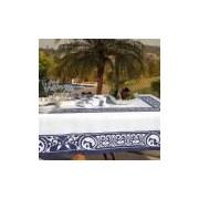 Toalha de Mesa Kacyumara Linha K Digital 150x270cm Venato, Azul