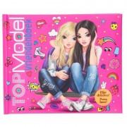 Vriendschapsboek TopModel roze 21 cm