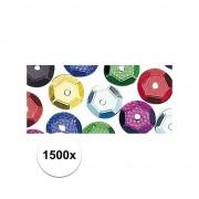 Rayher hobby materialen 1500x Pailletten gekleurd 6 mm