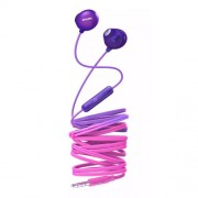 Casti audio Philips UpBeat SHE2305PP/00, intraauriculare, microfon incorporat, izolare fonica, lungime cablu 1,2m, Roz/Violet