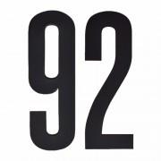Geen Cijfer sticker 92 zwart 10 cm