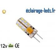 Ampoule led G4 1.5w SMD 3014 blanc chaud 3000K 12v DC ref A196-1