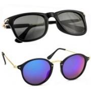 Elgator Cat-eye, Wayfarer Sunglasses(Blue, Black)