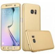 Husa Samsung Galaxy S6 Edge FullBody Elegance Luxury Gold acoperire completa 360 grade cu folie de protectie gratis