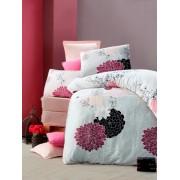 Lenjerie de pat din bumbac cu 4 fete de perna Valentini Bianco VKR30 Baume Alb