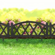 Virágágyás szegély / kerítés fekete műanyag 60 x 24 cm