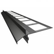 K40 Profil aluminiowy balkonowy 2.0m grafitowy RAL 7024 - listwa balkonowa okapnikowa grafitowa