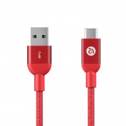 Cablu incarcare si date Adam Elements CASA M100 USB to TypeC, 1m, Red