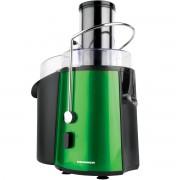Storcator de fructe Heinner XF-1000GRSP, 1000W, Tub XXL, Baza inox, Sita inox, recipient suc 1L, recipient pulpa 2L, Verde