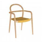 Kave Home Cadeira Sheryl mostarda marmoreado