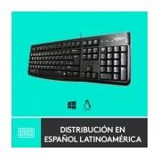 Teclado Logitech K120, USB, Alámbrico, Negro (Inglés)