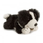 Catel border collie de plus cu zgarda 25 cm Keel Toys