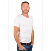 RJ Bodywear Men V-Neck T-Shirt Pure White