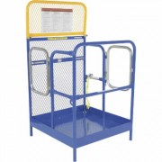 Vestil Work Platform - Side Dual-Door Entry, 36 Inch L x 36 Inch W Platform, Model WP-3636-DD, Blue