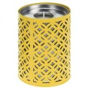 Geen Gele kaarshouder met 3 citronella waxinelichtjes