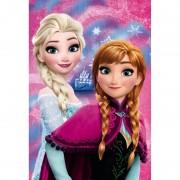 Paturica copii Frozen Anna and Elsa Star, 100 x 150 cm, poliester