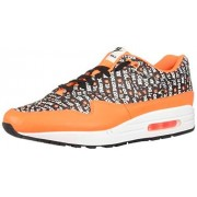 Nike Air MAX 1 Premium_875844-008 Zapatillas para Hombre, Black/Total Orange/White, 10