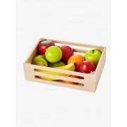 VERTBAUDET Caixa de frutas em madeira bege medio liso com motivo