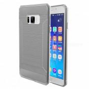 Funda TPU de fibra de carbono para Samsung Galaxy S8 Plus - Gris translucido