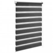 PremiumXL - [neu.holz] Dupla (zebra) roleta - 40x150cm, siva, - zaštita od sunca i svjetlosti - sjenilo - bez bušenja