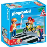 PLAYMOBIL School Crossing Guard Construction Set with Kids