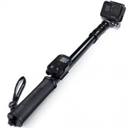 """SANDMARC Pole Metal Edition: 15-50"""" Professional All-Aluminum Waterproof Extension Pole / Stick / Monopod for GoPro Hero 5 Black / Session, Hero 4 / Session, 3+, 3, 2, and HD Cameras"""