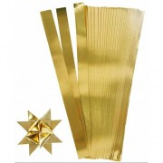 Geen 100 Papieren stroken goud 45 cm