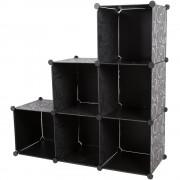 [neu.haus]® Шкаф за съхранение - Направи си сам , 110cm x 110cm x 37cm, Черен