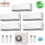 Fujitsu Climatizzatore Condizionatore Fujitsu Penta Split Parete Inverter Serie Lm 9+9+9+9+12 Btu Con Aoyg36lbla5