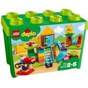 Конструктор Лего Дупло - Голяма площадка кутия с тухлички, LEGO DUPLO Creative Play, 10864