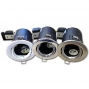 OPTONICA Tűzbiztos álmennyezeti beépíthető spot lámpa GU10 szatén króm/ billenthető / OT5065