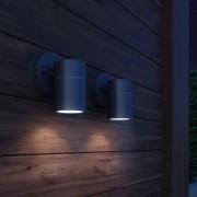 vidaXL Фасаден аплик, 2 бр, неръждаема стомана, светещ надолу