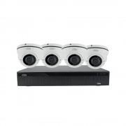 Kit videosorveglianza ip nvr h.265 4 canali 4 telecamere poe 2 mpx varifocali, spazio disco senza hard disk