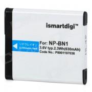 ismartdigi NP-BN1 reemplazo 3.6V 630mah bateria de ion de litio para sony DSC-W570 + mas - blanco