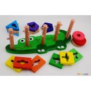 Дървена игра крокодил