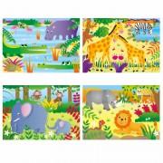 Set 4 puzzle-uri Jungla, 12, 16, 20, 24 piese