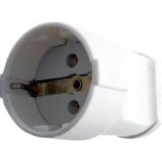 Földelt csatlakozó dugalj Műanyag Fehér - Relee