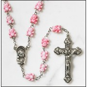 Children's Rosary Pink Teddy Bear w/Velour Bag, Color Your Own Bookmark and Childrens How to Pray the Rosary Pamphlet