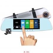 Camera Auto Oglinda Offroad Full HD cu touchscreen SM7A0 + IN-CAR Triple, bonus nou
