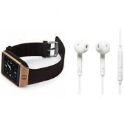 Mirza DZ09 Smart Watch and S6 Bluetooth Headsetfor Samsung C7 Pro(DZ09 Smart Watch With 4G Sim Card Memory Card| S6 Bluetooth Headset)