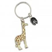 Nature Plush Planet Metalen giraffe sleutelhanger 5 cm