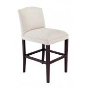 Upholstered high back barstool