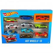 Hot Wheels Mattel -0 Hot Wheels Juego De 10 Coches Surtido:modelos Y Colores Aleatorios