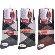Lotus Men's Woolen Socks Winter wear Full Length Multicolour 3 Pairs of Socks