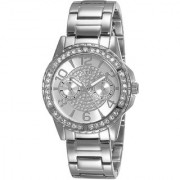 GUESS Silver Stainless Steel Round Dial Chronograph Watch For Women (W0705L1)
