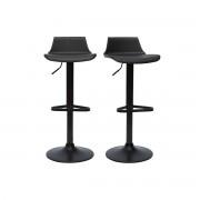 Lote de 2 taburetes de bar diseño negro KRONOS - Miliboo