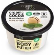 Unt de corp Organic Shop delicios cu ciocolata alba White Chocolate, 250 ml